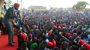 Uganda Opposition Candidate Bobi Wine during a campaign Rally. image courtesy