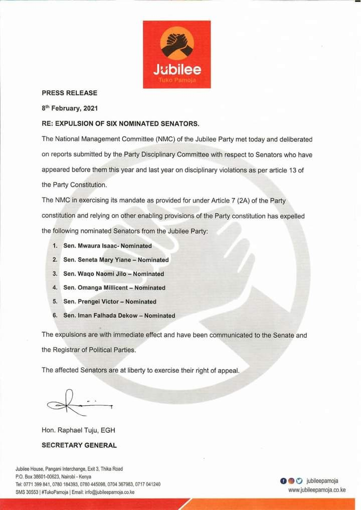 jubilee-party-expels